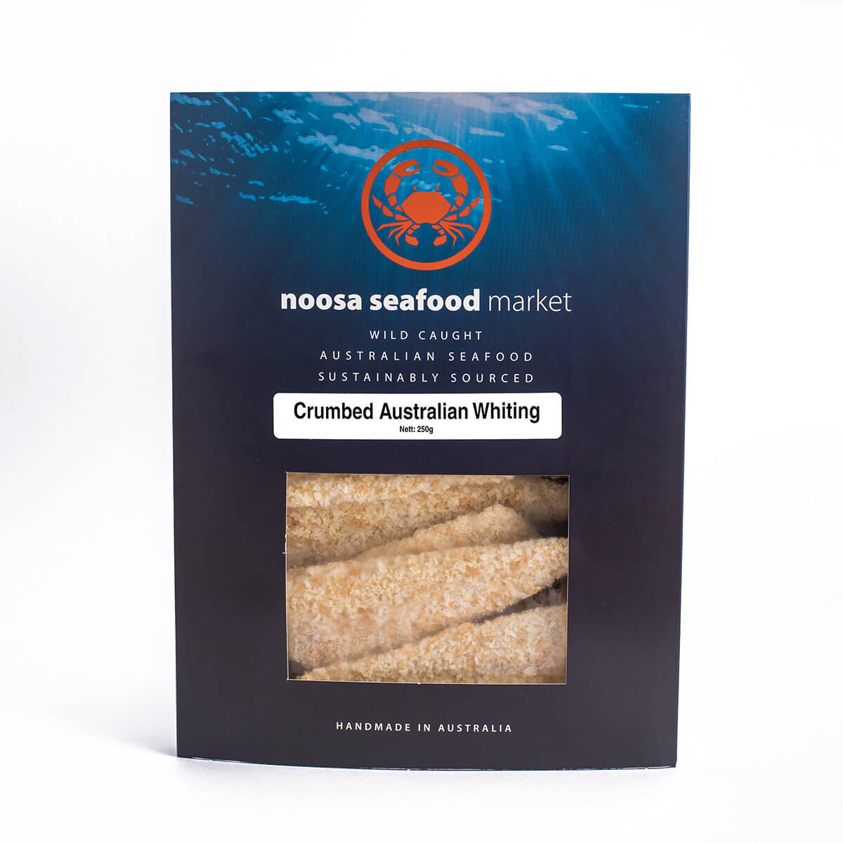 Crumbed wild caught skin-on Whiting fillets